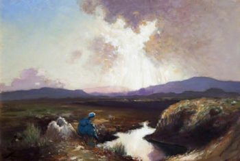 The Watcher | George William (A.E. Russell | oil painting