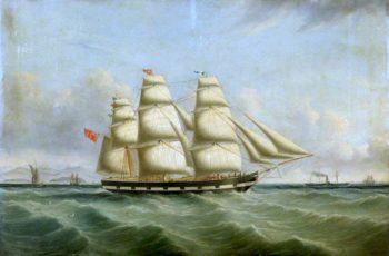 The Ship Montezuma | Joseph Heard | oil painting