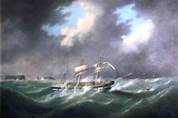 Barque Rockshire off a Rocky Coast | Joseph Heard | oil painting