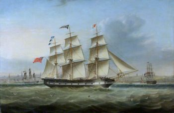 The Ship Sir Walter Scott Arriving in New York