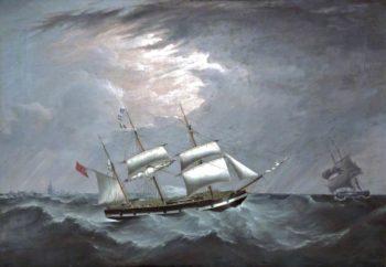 The Barque Charley Cija off an Iceberg | Joseph Heard | oil painting