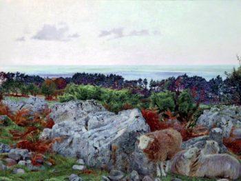Morecambe Bay from Warton Crag | Daniel Alexander Williamson | oil painting