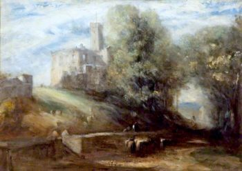Warkworth Castle | Daniel Alexander Williamson | oil painting
