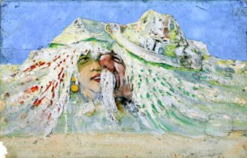 Dufour and the Fair Monte Rosa   Emil Nolde   oil painting
