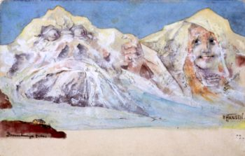 The Evil Wildspitz and Fair Boule - Blanche | Emil Nolde | oil painting