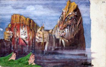 Cima de la Pala and Vezzana   Emil Nolde   oil painting