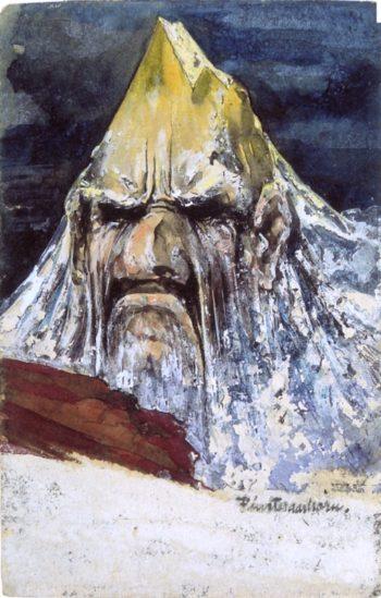 The Evil Finsteraarhorn   Emil Nolde   oil painting