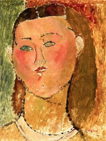 Little Girl with Hair | Amedeo Modigliani | oil painting