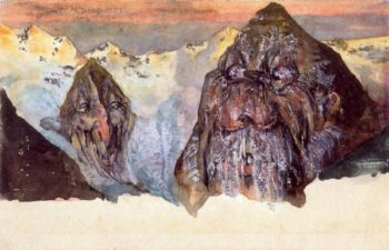 The Black Madatsch and the Little Rhinoceros | Emil Nolde | oil painting