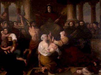Judgement of Solomon | Benjamin Robert Haydon | oil painting