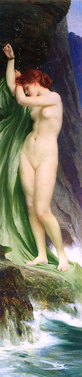 Andromeda | Sir Francis Bernard (Frank Dicksee | oil painting