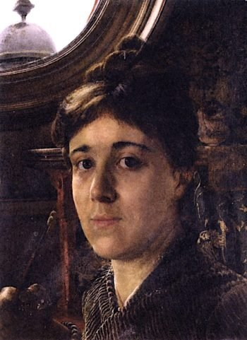 Self - Portrait | Anna Alma-Tadema | oil painting