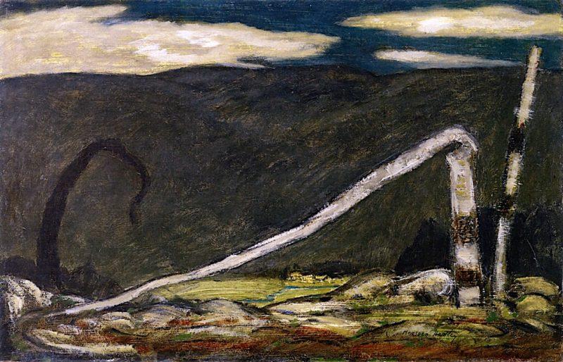 Desertion   Marsden Hartley   oil painting