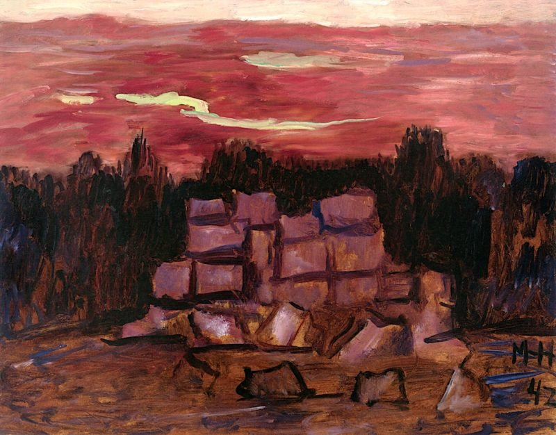 Sundown by the Ruins | Marsden Hartley | oil painting