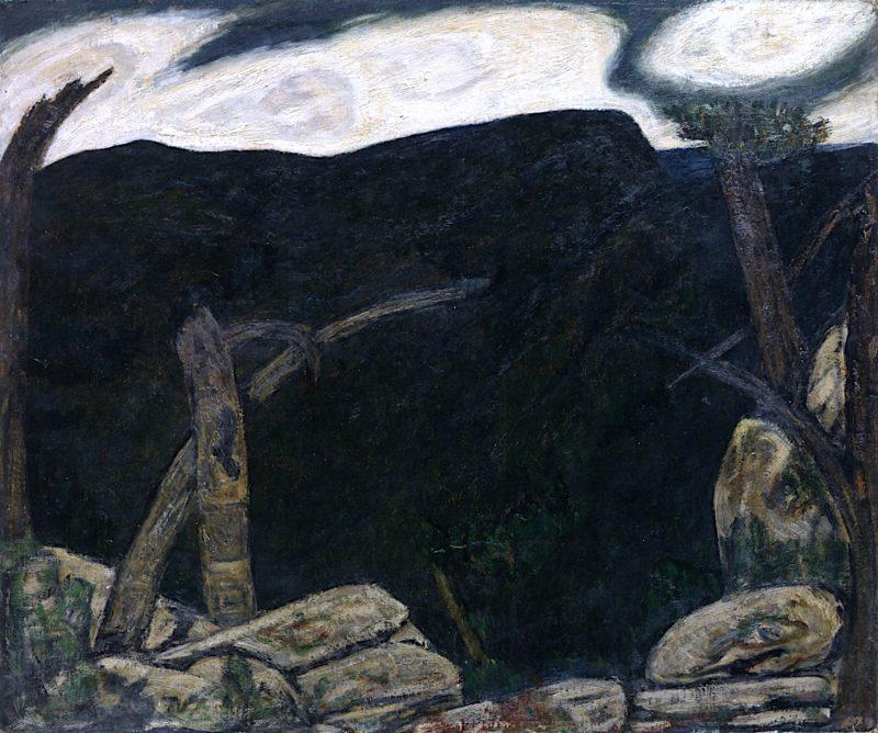 Dark Mountain No. 2   Marsden Hartley   oil painting