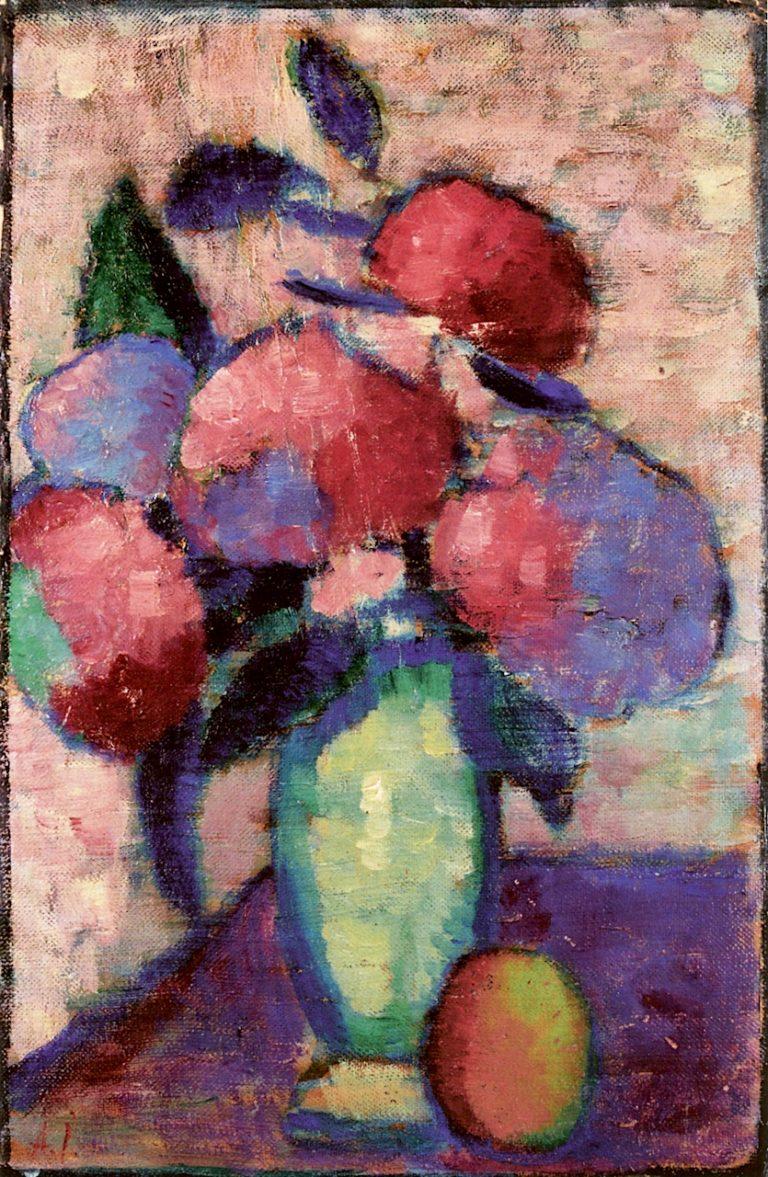 Still Life -  Flowers in Green Vase | Alexei von Jawlensky | oil painting