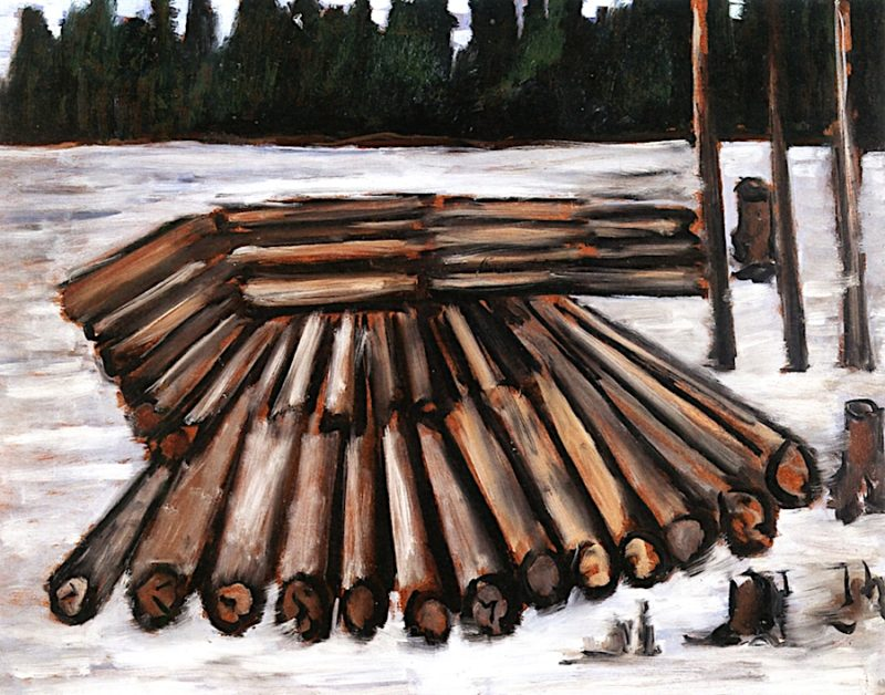 Logjam   Marsden Hartley   oil painting