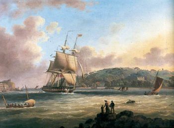 HMS Pallas Entering Plymouth Harbour | Thomas Lyde Hornbrook | oil painting