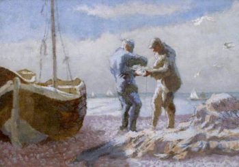 Brighton Fishermen | Therese Lessore | oil painting