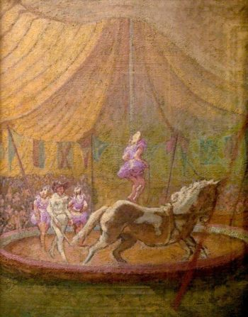 Circus at Bath | Therese Lessore | oil painting
