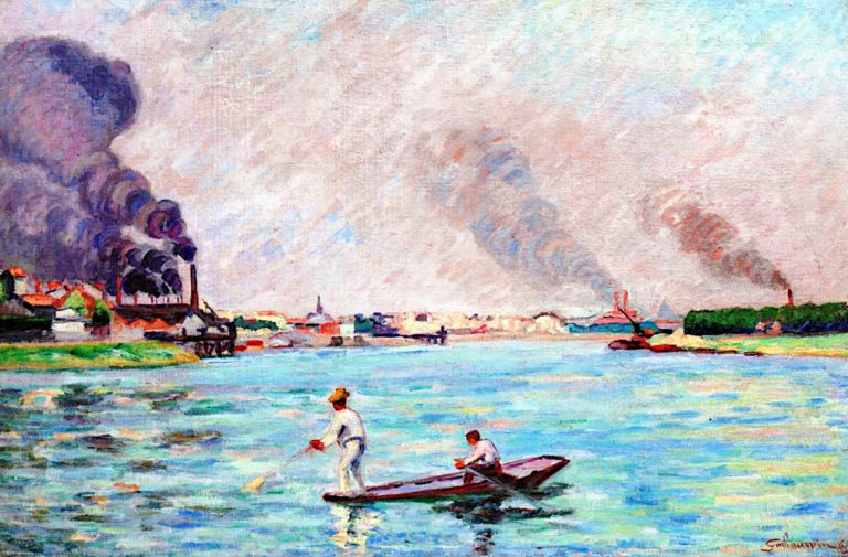 The Seine at Ivry | Armand Guillaumin | oil painting