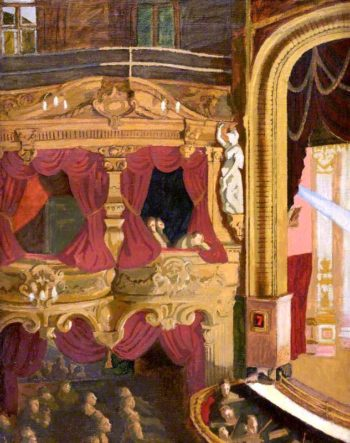 Euston Theatre of Varieties | Therese Lessore | oil painting