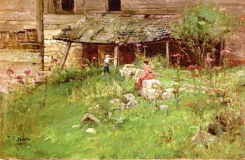 An Old Garden | Theodore Clement Steele | oil painting