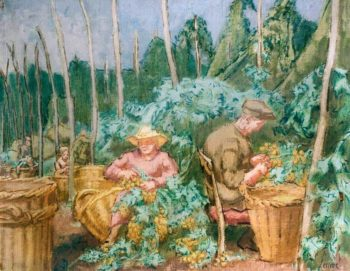 Hop - Pickers | Therese Lessore | oil painting