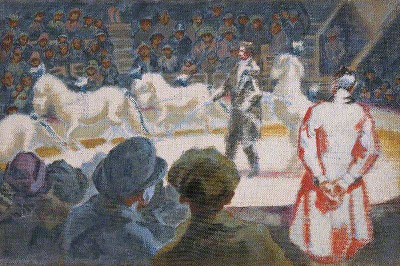 Islington Circus | Therese Lessore | oil painting