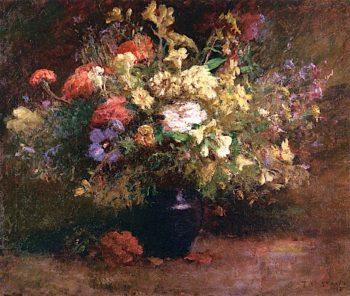 Flowers | Theodore Clement Steele | oil painting