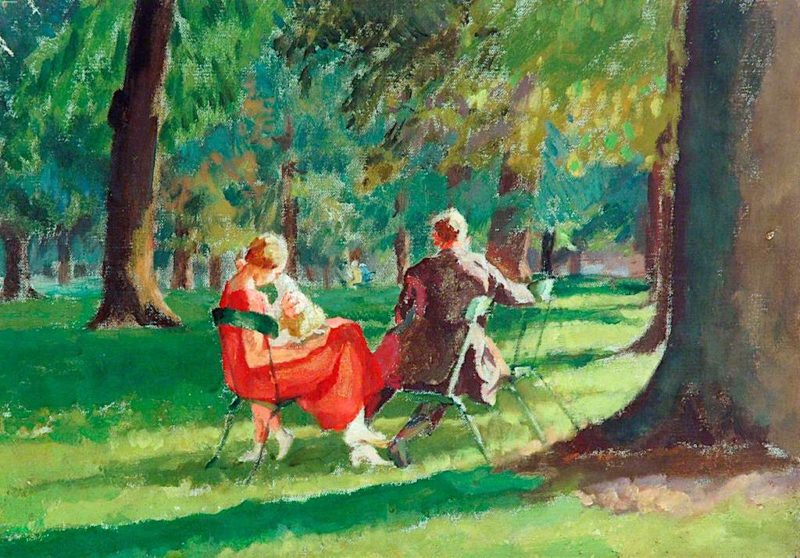 Kensington Gardens | Therese Lessore | oil painting