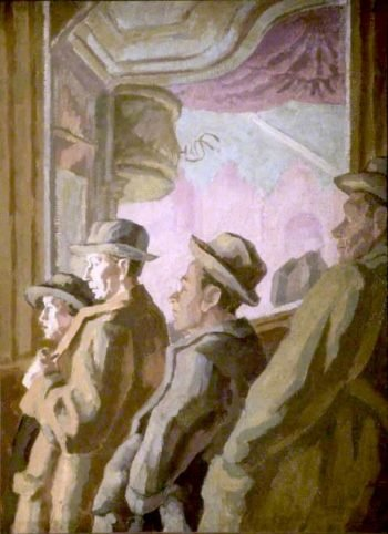 Music Hall Audience | Therese Lessore | oil painting