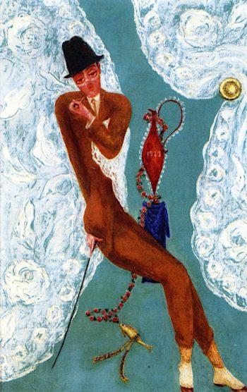 Portrait of Louis Bouché | Florine Stettheimer | oil painting