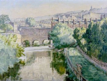 Pulteney Bridge over the Avon at Bath | Therese Lessore | oil painting