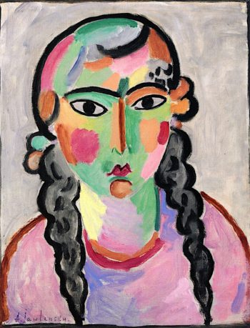 The Pale Girl with Grey Braids   Alexei von Jawlensky   oil painting