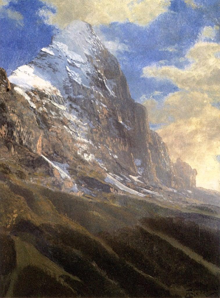 A Snow - Covered Peak   Albert Bierstadt   oil painting