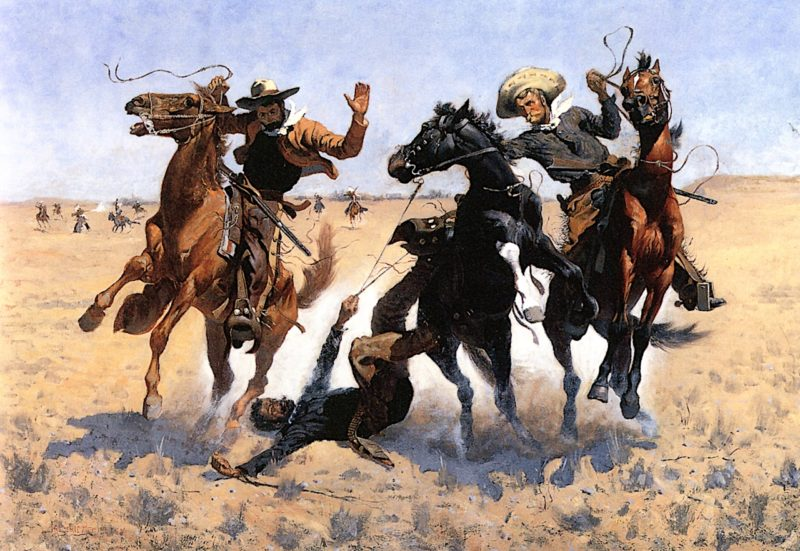 Aiding a Comrade | Frederic Remington | oil painting