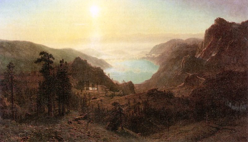 Donner Lake from the Summit | Albert Bierstadt | oil painting