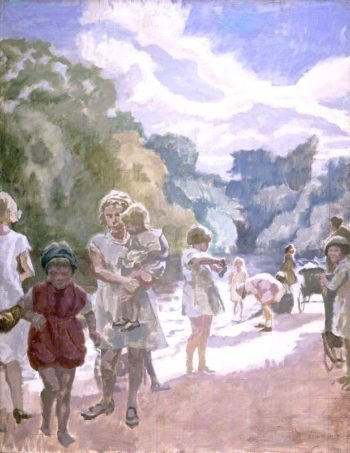 Victoria Park – Lets Go Home Sis! | Therese Lessore | oil painting