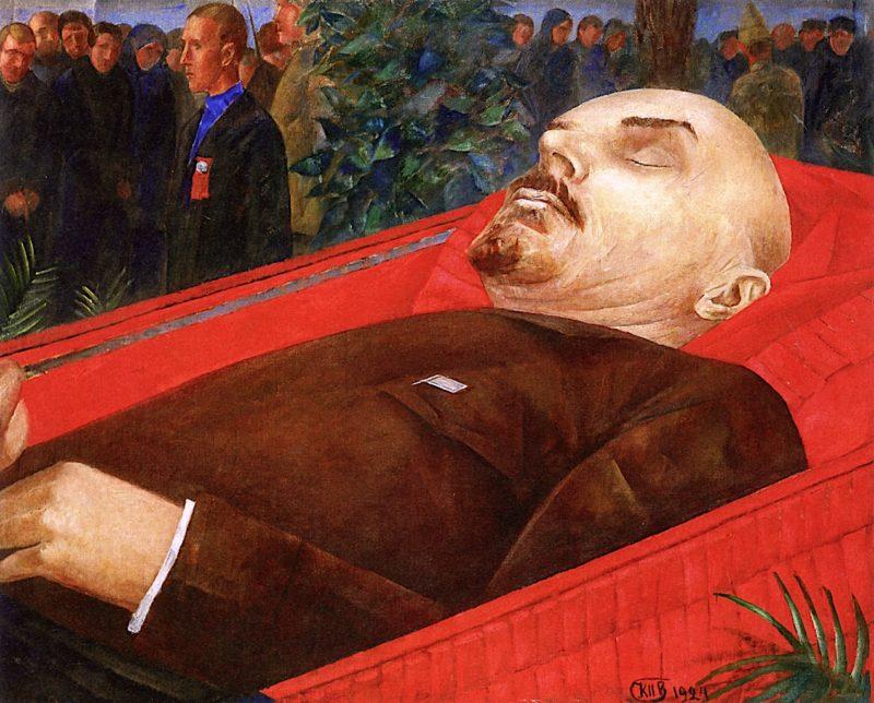 Beside Lenins Coffin   Kuzma Petrov-Vodkin   oil painting