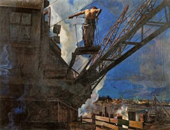 Shock - worker from Dneprostrol | Isaak Brodsky | oil painting