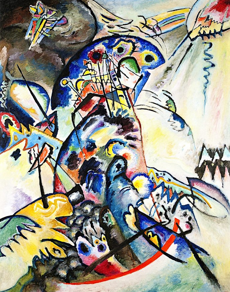 Blue Crest | Wassily Kandinsky | oil painting