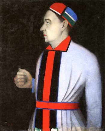 Portrait of the Art Critic and Curator Nikolai Punin | Kasimir Malevich | oil painting