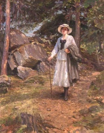 The Woodland Path | James Hamilton Mackenzie | oil painting