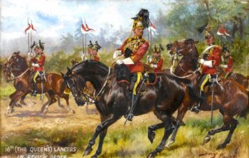 16th (The Queen's) Lancers in Review Order | Harry Payne | oil painting