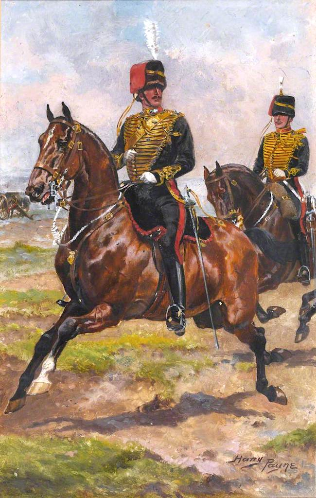 A Mounted Officer And Trooper Of Royal Horse Artillery Painting Harry Payne Oil Paintings