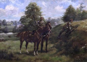 Soldiers of the West Kent Imperial Yeomanry Practising in Mote Park