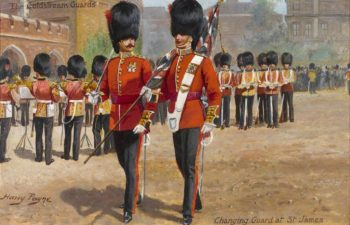 The Coldstream Guards Changing Guard at St James | Harry Payne | oil painting