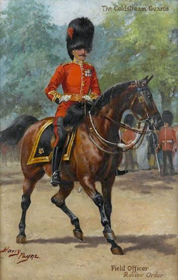 The Coldstream Guards Field Officer Review Order | Harry Payne | oil painting