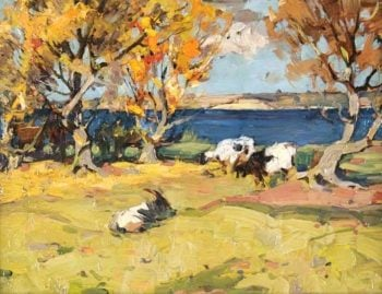 Landscape with Goats | John Reid Murray | oil painting